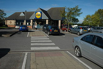 Bishop's Cleeve - Lidl store in Bishop's Cleeve in the centre of the village