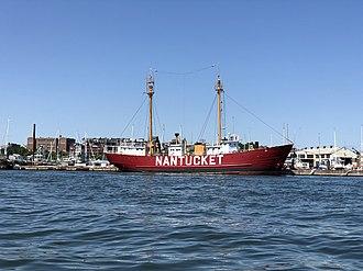 Lightship Nantucket - LV-112 in Boston harbor