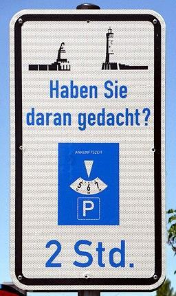 Lindau, Verkehrsschild, Parkscheibe, 1