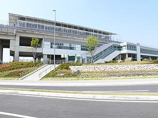 Aichikyūhaku-kinen-kōen Station Maglev station in Nagakute, Aichi Prefecture, Japan