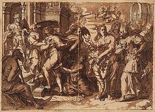 Młodzieniec wstępujący w Bramę Cnoty (Porta Virtutis)
