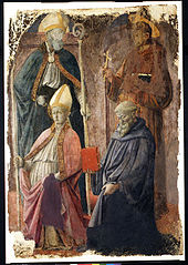 Saints Augustine and Francis, a Bishop Saint, and Saint Benedict