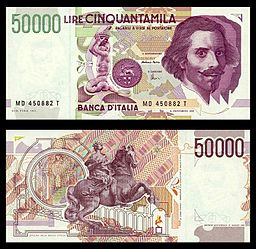 Lire 50000 (Bernini)