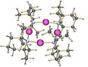 Lithium tetramethylpiperidide - Image: Lithium tetramethylpiperide tetramer