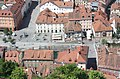 Ljubljana, view from the castle to the square Novi trg.JPG