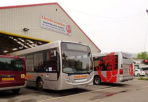 Lloyds Coaches - Enviro200 Dart and Optare Solo at the companies depot in September 2014