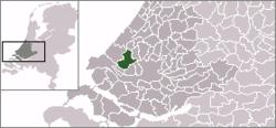 Lage von Midden-Delfland in den Niederlanden