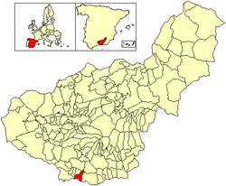 Location of Salobreña