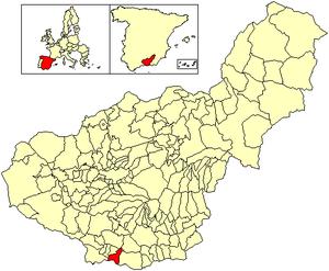Salobreña - Image: Location Salobreña