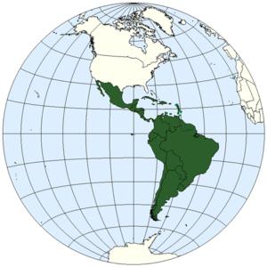 mapa America Latina, acepción geopolítica