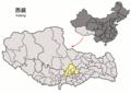 Location of Dagzê within Xizang (China).png