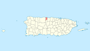 Location of Barceloneta in Puerto Rico