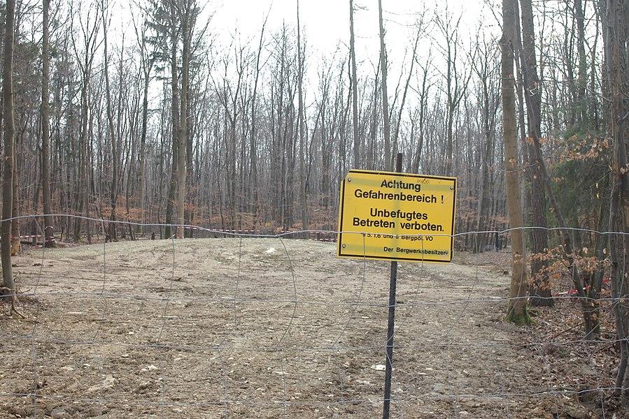 Folgen des Kalkabbaus unter dem Wehrholz
