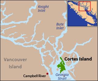 Cortes Island island in British Columbia, Canada