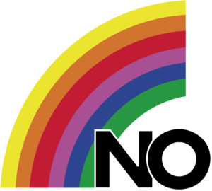 Patricio Aylwin - Logo of the No campaign, el arcoíris (the rainbow).