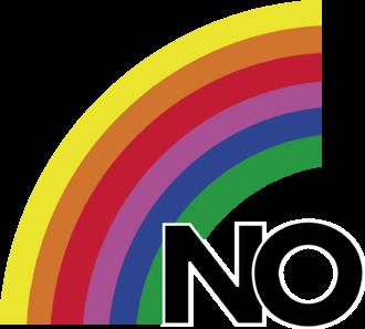 Chilean national plebiscite, 1988 - Main logo of the No campaign, el arcoíris (the rainbow).