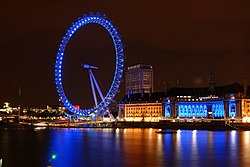Pemandangan London Eye