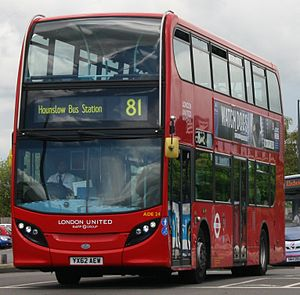London Buses route 81 - London United Alexander Dennis Enviro400 in Slough in May 2014