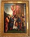 Lorenzo costa, sposalizio della vergine tra i ss. gioacchino, anna e un frate francescano, 1505, dall'annunziata 01.jpg