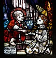 Loughrea St. Brendan's Cathedral Baptistry Window St. Ita by Sarah Purser and Catherine O'Brien Detail St. Brendan 2019 09 05.jpg
