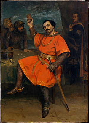 Louis Guéymard - Portrait of Louis Guéymard as the title hero in Giacomo Meyerbeer's Robert le diable. (Gustave Courbet, 1857)