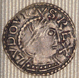 Louis IV of France - A denier from the reign of Louis IV, minted at Chinon