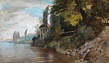 Der Tempel auf einem Gemälde von Louis Kolitz (19. Jahrhundert) (Quelle: Wikimedia)