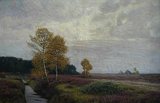 Landscape with brook