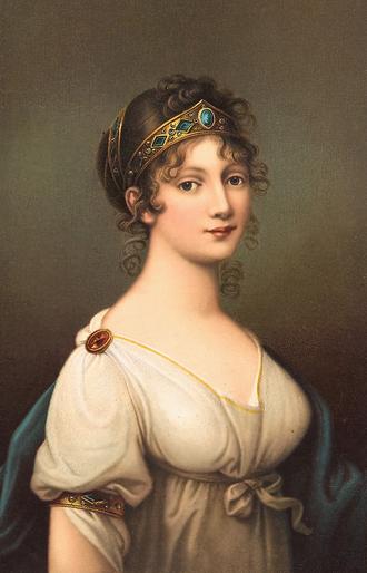 Louise of Mecklenburg-Strelitz - Portrait by Josef Grassi
