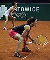 Lourdes Dominguez Lino i Lara Arruabarrena BNP Paribas Katowice Open 2013.jpg