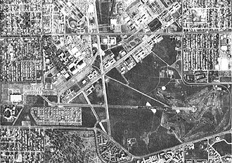 Lowry Air Force Base - Lowry Air Force Base and nearby residential areas in March 1987