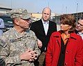 Lt. Gen. Caldwell talks with U.S. Senator Lisa Murkowski during a tour (4278152383).jpg