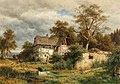 Ludwig Halauska Verfallener Bauernhof aus dem Laabachtal bei Kaumberg 1879.jpg
