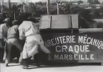 La Charcuterie mécanique - Scene from the movie by brothers Lumière