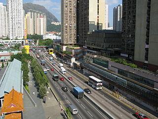 Lung Cheung Road road in Hong Kong