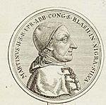 Friedrich Nicolai verglich die Porträts von Gerbert auf einer Gedenkmünze (1783) mit dem von Egid Verhelst (1785) (Quelle: Wikimedia)