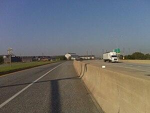 Interstate 695 (Maryland) - MD 158 (left) running alongside I-695 (right)