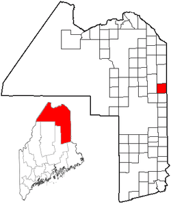 Location of Easton, Maine