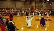 An amateur dancesport competition at MIT.