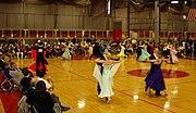 An amateur dancesport competition at MIT.