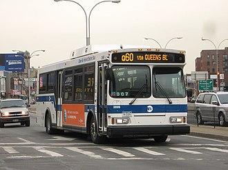 Q60 (New York City bus) - A Q60 Orion VII bus in Elmhurst, Queens.