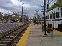 Ferndale Station platform.