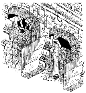 Machicolation - Illustration of machicolations in use