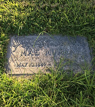 Mae Murray - Grave of Mae Murray, Valhalla Memorial Park