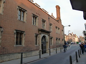 Magdalene College, Cambridge - Street front of Magdalene College porter's lodge, with its 16th-century architecture retained