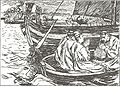 Magnus Blindes og Harald Gilles saga-Presten paa skipsbaaten-E. Peterssen.jpg