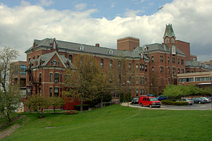 Maine Medical Center - The original hospital building on the campus.