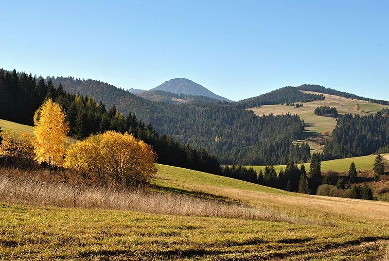 Malatiná, Dolný Kubín district, Slovakia - landscape near a village