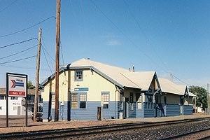 Malta, Montana - Amtrak station