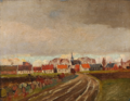 Malte Engelsted - Efterårslandskab, antagelig fra Store Magleby på Amager - 1890.png
